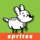 Stickman Dog Sprites | 2D Game Asset for Game Developers - GraphicRiver Item for Sale