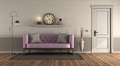 Classic style living room with pink sofa - PhotoDune Item for Sale