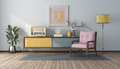 Vintage style living room with pastel color - PhotoDune Item for Sale
