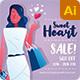 Women Valentines Instagram Facebook Social Media Post - GraphicRiver Item for Sale