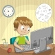Boy Makes Homeschooling - GraphicRiver Item for Sale