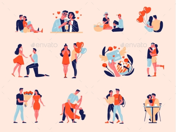 Valentine Love Icons Collection