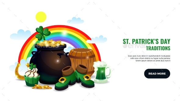 Patricks Day Traditions Banner