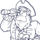 Pirate with Telescope - GraphicRiver Item for Sale