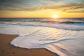 Sandy seashore at sunset. - PhotoDune Item for Sale