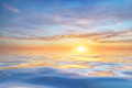 Sun and sea sunset background. - PhotoDune Item for Sale