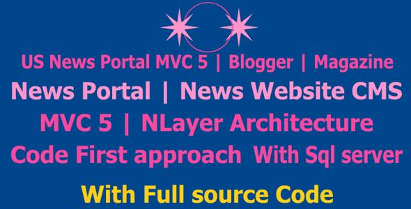 US News Portal MVC 5 | Blogger | Magazine | News Portal | News Website CMS | MVC 5 News Website