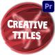 Creative Cartoon Titles | Premiere Pro MOGRT - VideoHive Item for Sale