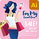 Women's Valentines Day Social Media Template - GraphicRiver Item for Sale