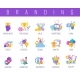 Branding Color Icons Set - GraphicRiver Item for Sale