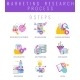 9 Steps of Market Research Flat Vector Icons - GraphicRiver Item for Sale