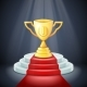 Illuminated Cup on Stage Light Award Podium - GraphicRiver Item for Sale
