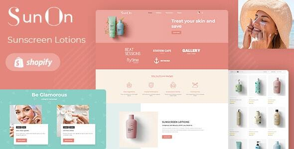 SunOn - Skin Care Products Shopify Theme