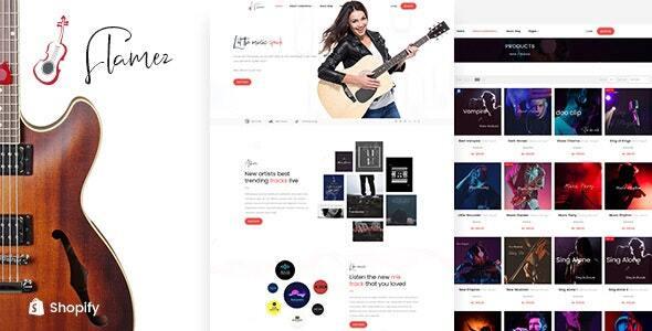 Flamez - Online Music Store Shopify Theme