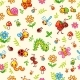 Vector Seamless Pattern with Insects and Plants in - GraphicRiver Item for Sale