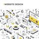 Website Design Isometric Banner Illustration - GraphicRiver Item for Sale