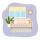 Living Room Interior Design Flat Vector - GraphicRiver Item for Sale