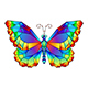 Rainbow Polygonal Butterfly - GraphicRiver Item for Sale