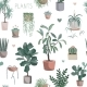Cute Houseplants Background - GraphicRiver Item for Sale