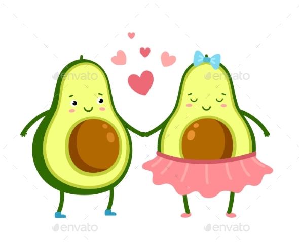 Cute Avocado in Love