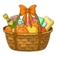 Basket with Gifts - GraphicRiver Item for Sale