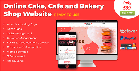 Online Cake, Cafe and Bakery Shop in ASP.NET
