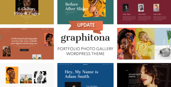 Graphitona - Portfolio Photo Gallery WordPress Theme