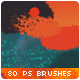 80 Handmade Spray Watercolor Photoshop Brushes - GraphicRiver Item for Sale