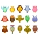 Cartoon Owls and Owlets Birds of Prey - GraphicRiver Item for Sale