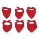 Red Bandanas Face Mask or Neck Scarfs Vector Set - GraphicRiver Item for Sale
