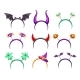 Creepy Halloween Headbands with Horns and Monsters - GraphicRiver Item for Sale