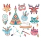 Cute Native American or Indian Animal Icons - GraphicRiver Item for Sale