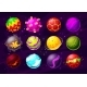 Space Game Fantasy Planets Cartoon Alien Galaxy - GraphicRiver Item for Sale