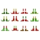 Feet and Shoes of Leprechaun and Christmas Elf - GraphicRiver Item for Sale