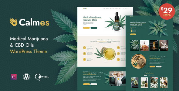 Calmes – Medical Marijuana WordPress Theme