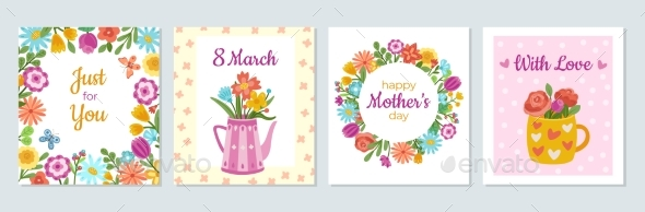 Floral Woman Cards