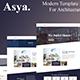 Asya - Modern Architecture Elementor Template Kit - ThemeForest Item for Sale