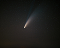Comet C2020F3 Neowise displaying its blue ionic tail - PhotoDune Item for Sale