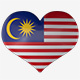 Malaysia Flag Heart Spinning - VideoHive Item for Sale