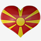 Macedonia Flag Heart Spinning - VideoHive Item for Sale