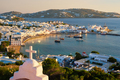 Mykonos island port with boats, Cyclades islands, Greece - PhotoDune Item for Sale