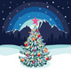 Fir Tree in Forest Decorated for Christmas - GraphicRiver Item for Sale