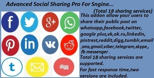 Advanced Social Sharing Pro For Sngine