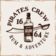 Bottle of Rum and Saber Vector Pirate Emblem - GraphicRiver Item for Sale