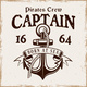 Anchor with Rope Ribbon and Text Captain Vector - GraphicRiver Item for Sale