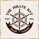 Rudder Wheel Vector Pirate Emblem in Vintage Style - GraphicRiver Item for Sale
