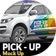 Photorealistic Pick Up Car Mock Up - GraphicRiver Item for Sale