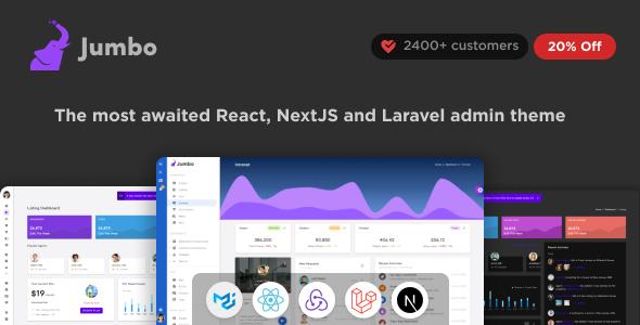Jumbo React - Redux Material BootStrap Admin Template