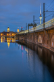 The River Spree, the Television Tower and a moving train - PhotoDune Item for Sale