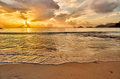Beautiful sunset at Seychelles beach - PhotoDune Item for Sale
